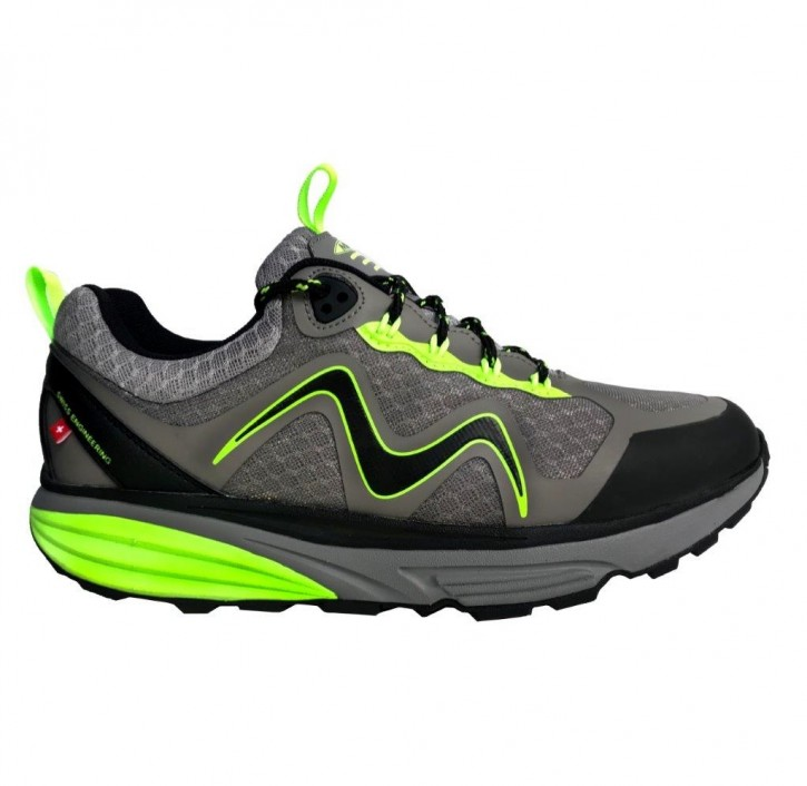 Tevo WP Lace UP M Grey/Lime Green MBT Schuhe
