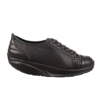 Batini Lace Up black coffee nappa