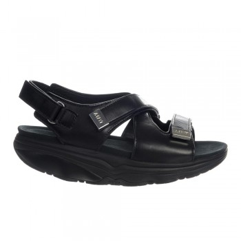 Hanuni 6 W Three strap black calf MBT Sandalen