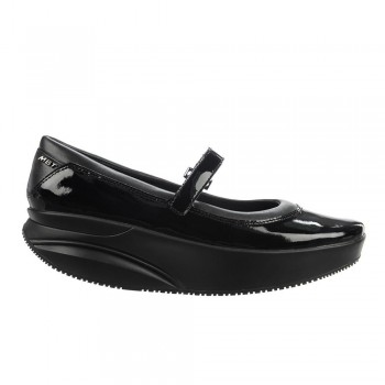 Jina MJ black patent MBT Ballerinas