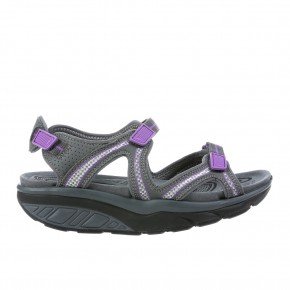 Lila 6 Sport charcoal grey/DK Purple MBT Sandalen