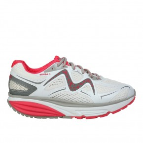 Simba 3 W WHITE/RED MBT Schuhe