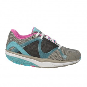Leasha Trail 6 Lace up soft gray/aqua sea/pink pop 42